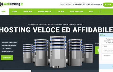 Realizzazione sito web Webhosting.it